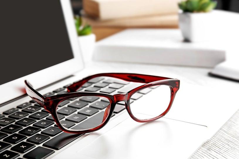 miopia e computer occhiali